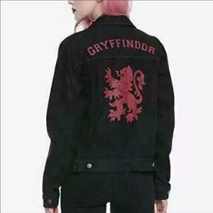 Harry Potter Gryffindor Black Denim Jacket XXL